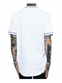 Black Pyramid B Rose Sequin Baseball Jersey White