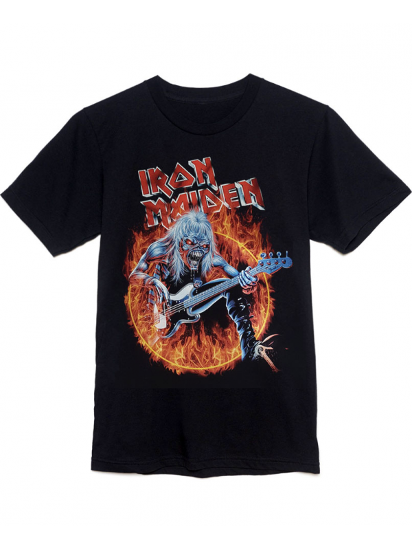 Iron Maiden Fear Of The Dark Tee Black