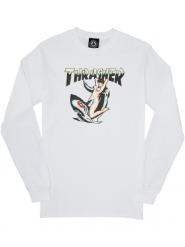 Thrasher Tattoo Long Sleeve Tee White