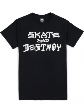 Thrasher T-Shirt Skate And Destroy Noir