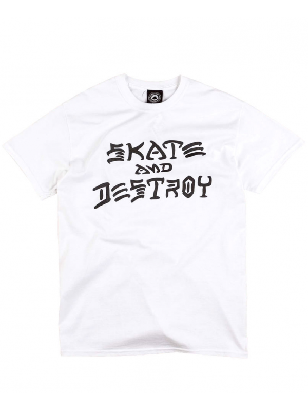 Thrasher T-Shirt Skate And Destroy Blanc