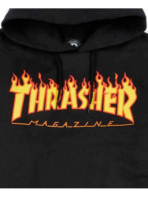 e9d88dc8 Thrasher - Flame Logo Hoodie in Black