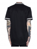 Black Pyramid B Rose Sequin Jersey Baseball Noir