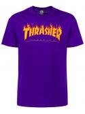 Thrasher T-Shirt Flame Logo Violet