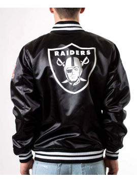 New Era Bomber Satin Oakland Raiders Noir