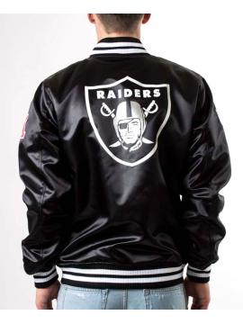 New Era Bomber Satin Oakland Raiders Noir