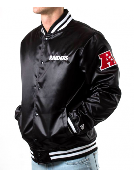 New Era Oakland Raiders Sateen Bomber Black