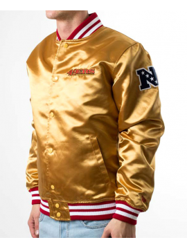 New Era Bomber Satin San Francisco 49ers Or