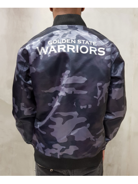New Era Golden State Warriors Sateen Bomber Camo