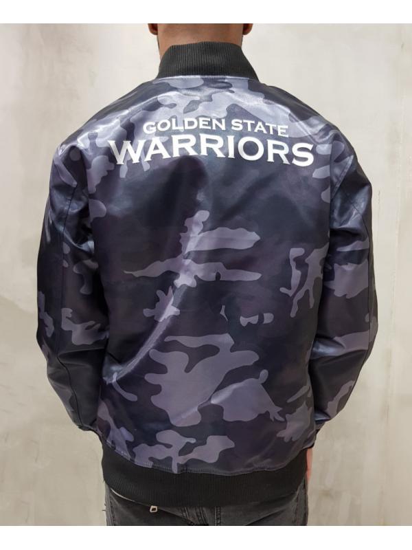 New Era Bomber Satin Golden State Warriors Camo