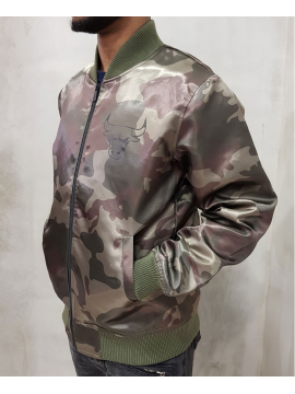 New Era Bomber Satin Chicago Bulls Camo