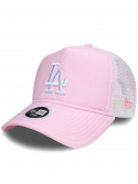 New Era Casquette Femme Trucker Los Angeles Oxford Rose