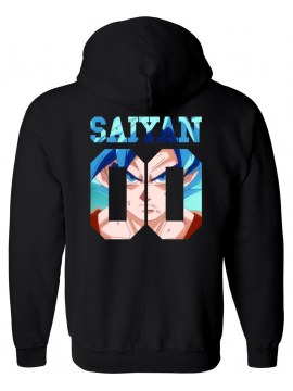 RXL Paris Saiyan Number Back Sangoku SSGSS Hoodie Black