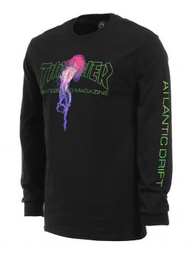 Thrasher Atlantic Drift T-Shirt Manches Longues Noir