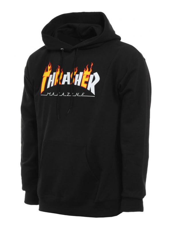 Thrasher Flame Mag Sweat À Capuche Noir