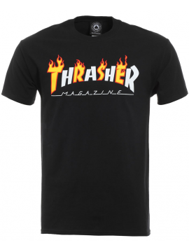 Thrasher Flame Mag T-Shirt Noir