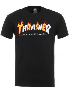 Thrasher Flame Mag T-Shirt Black