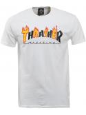 Thrasher Flame Mag T-Shirt White