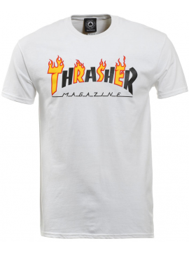 Thrasher Flame Mag T-Shirt Blanc