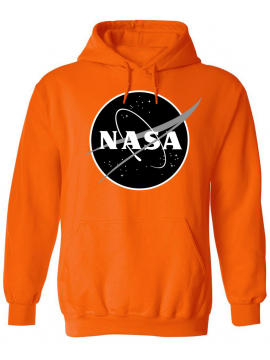 NASA Logo Imprimé Black Logo Sweat Capuche Orange