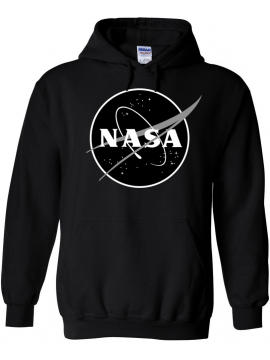 NASA Logo Imprimé Black Logo Sweat Capuche Noir