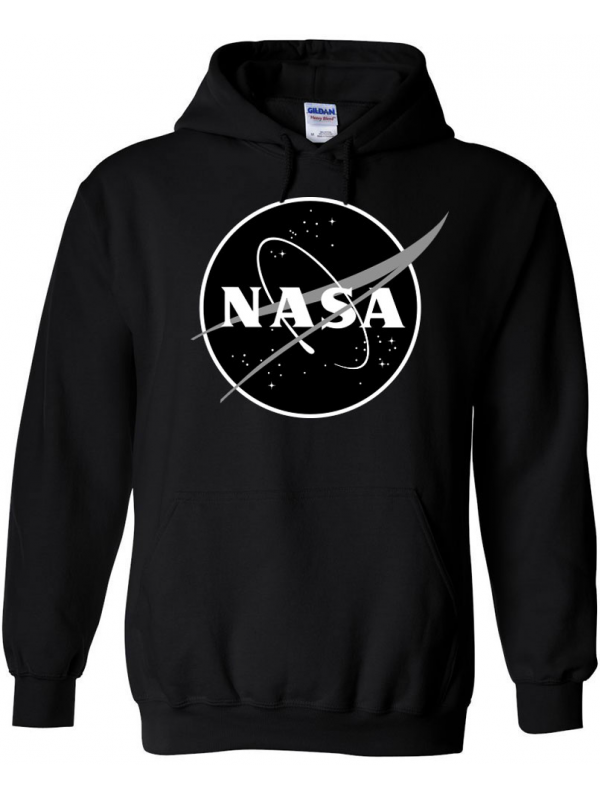 RXL Paris NASA Space Agency Black Logo Sweat À Capuche Noir