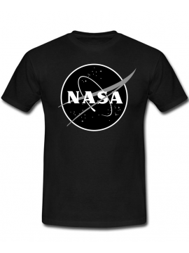 RXL Paris NASA Space Agency Black Logo T-Shirt Noir