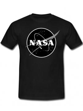 NASA Logo Imprimé Black Logo T-Shirt Noir