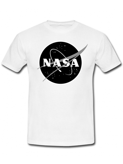RXL Paris NASA Space Agency Black Logo T-Shirt White