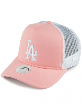 New Era Women League Essential Cap L.A. Dodgers Trucker Pink 4bf9b409f