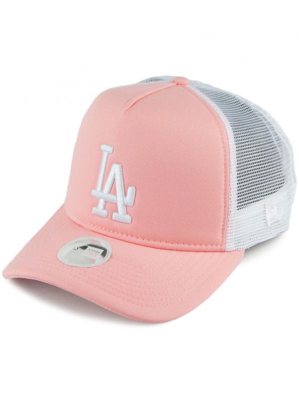 New Era Femme Casquette L.A. Dodgers Trucker Rose