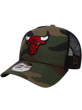 New Era 9Forty Chicago Bulls Team Essential Trucker Cap Camo