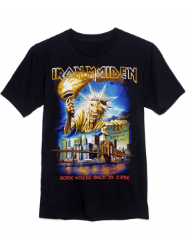 Iron Maiden T-Shirt Somewhere Back In Time Noir