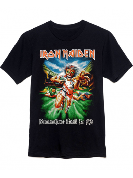 Iron Maiden Somewhere Back In Time LA Tee Black