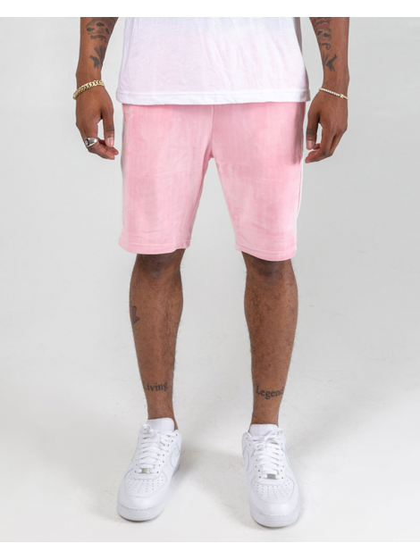Pink Dolphin Short Cool Out Velours Rose