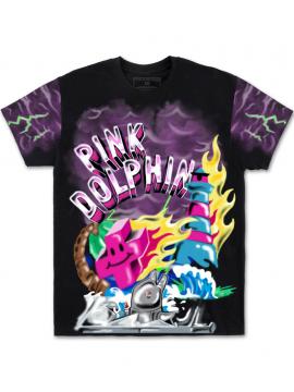 Pink Dolphin T-Shirt Superfuture Noir