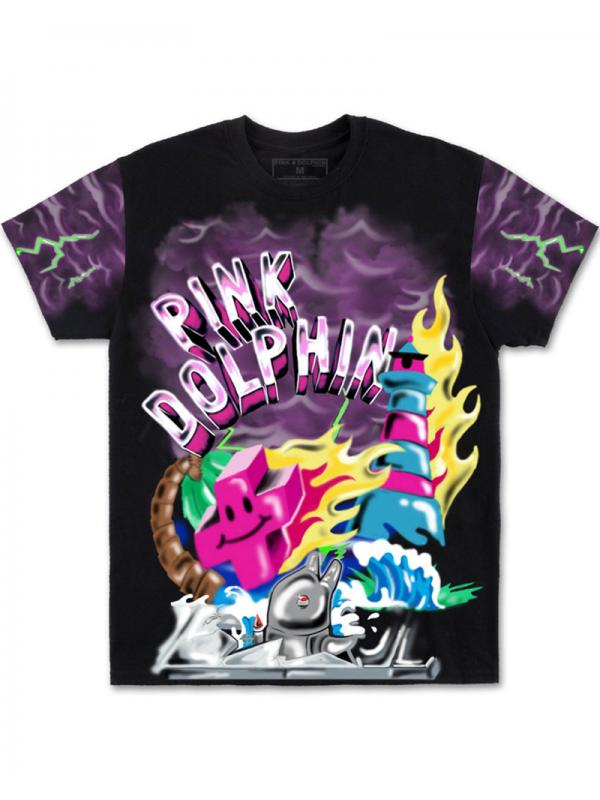 Pink Dolphin Superfuture Tee Black