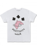 Pink Dolphin T-Shirt Positive Wave Blanc