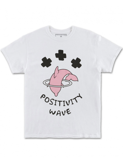 Pink Dolphin Positive Wave Tee White
