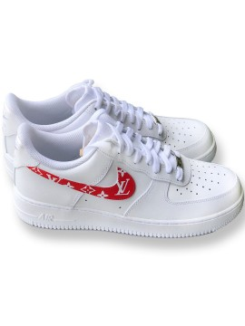 Remix Line Custom x NIKE AF1 Low Monogram Red
