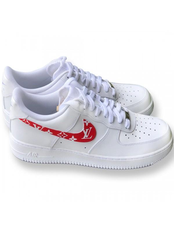 Remix X Af1 Monogram Low Rouge Nike Line Custom 9DIWH2YE