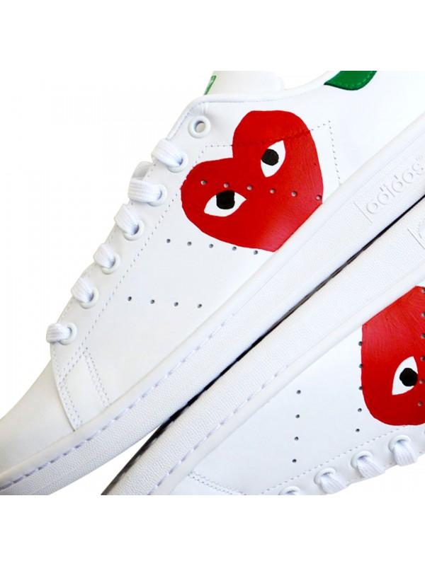 Adidas Stan Smith CDG custom on remixline.com a4f33c80f