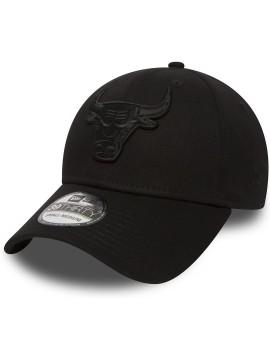 Casquette New Era 39Thirty Chicago Bulls Black On Black