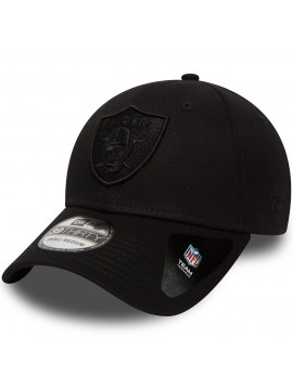 Casquette New Era 39Thirty Oakland Raiders Black On Black