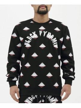 Black Pyramid Drip Logo Monogram Sweat Noir