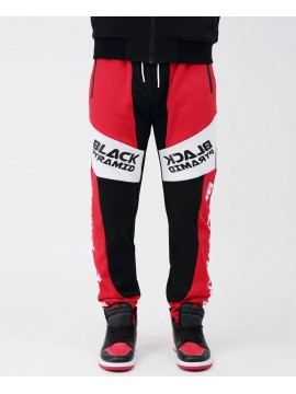 Black Pyramid Moto Quad Track Jogging Rouge