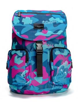 Pink Dolphin Camo Backpack Super Ocean