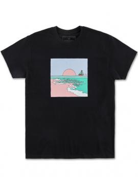 Pink Dolphin Horizon T-Shirt Noir