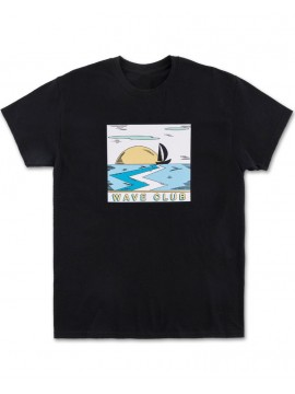 Pink Dolphin Wave Club Tee Black