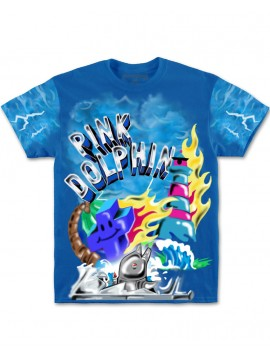 Pink Dolphin Superfuture T-Shirt Bleu